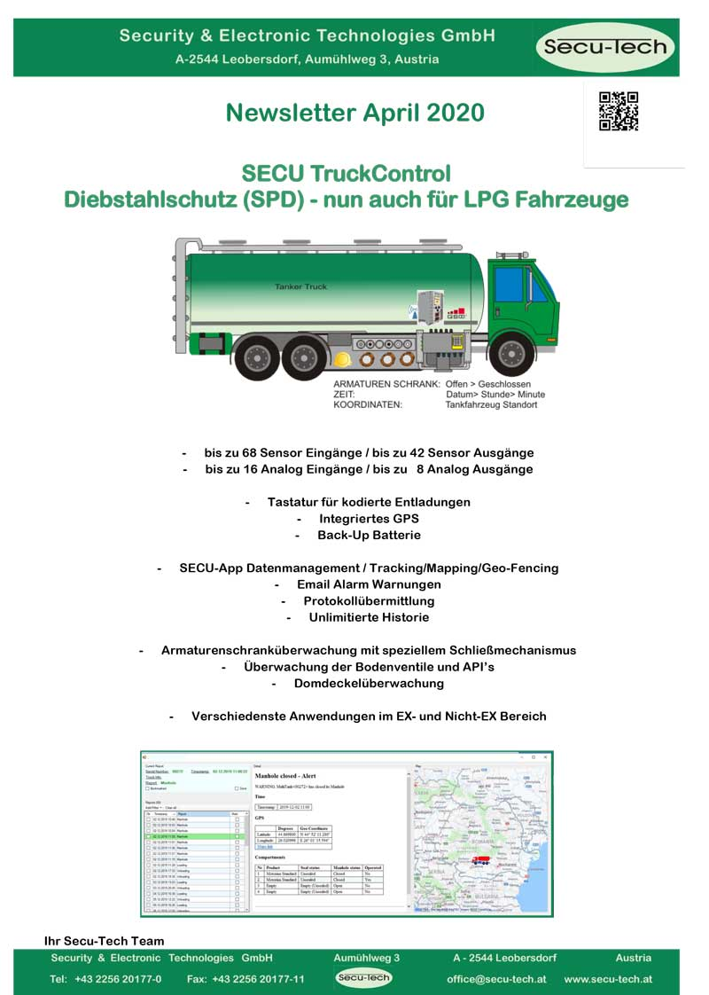 Newsletter Secu TruckControl D